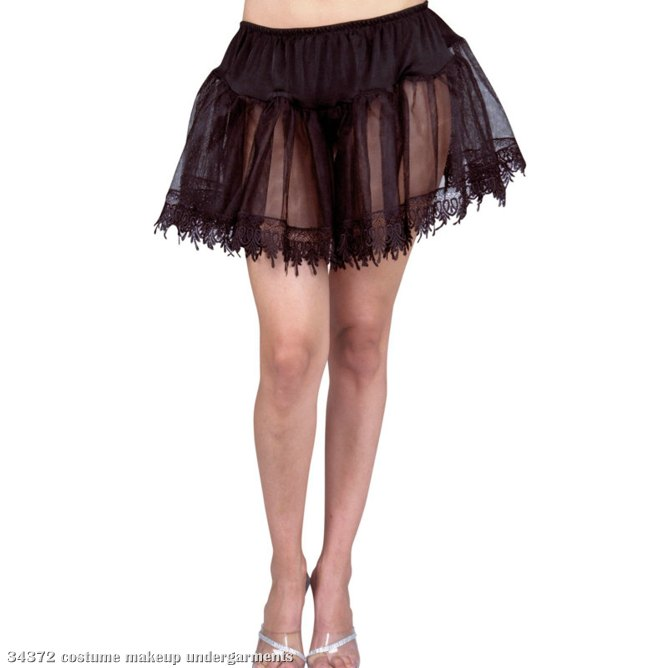 Teardrop Petticoat (Black) Adult Plus