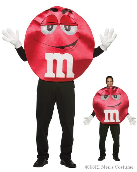 Adult M&Ms Deluxe Red Character Costume