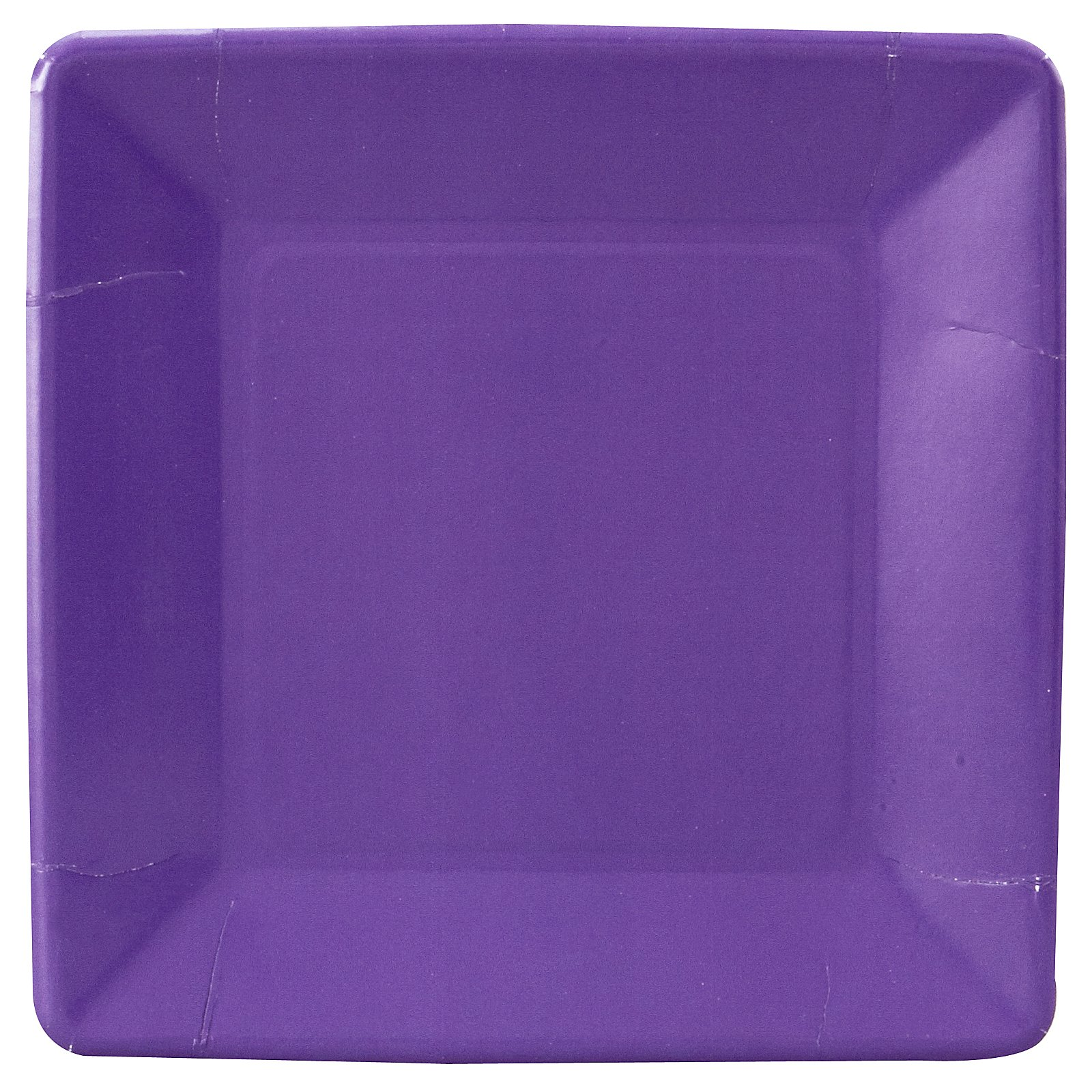 Perfect Purple (Purple) Square Dinner Plates (18 count)